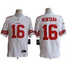 26f8a7d8103 Nike Joe Montana Jersey Elite Team Color White San Francisco 49ers  16