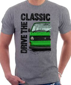 Clasic Retro VW T25 Air Cooled T shirt Heather Grey. by LukasLoza