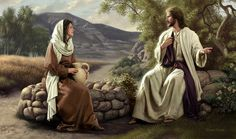 Studies in John's Gospel: Study Part 2 'Water', The Woman at the Well – Video post – Bible Truth and Prophecy Pictures Of Christ, Bible Pictures, Lds Art, Bible Art, Simon Dewey, Image Jesus, Jesus Christus, Biblical Art, New Testament