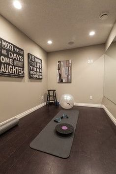 home gym design ideascould put a small refrigerator