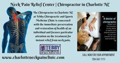 If you are searching for good chiropractor then contact with Dr. Alan Tebby, who is the best Chiropractor in Charlotte NC uses advanced techniques for promoting the optimal health and well-being of the patients suffering from chronic neck pain conditions.For more info visit us at www.charlotteneckpainclinic.com
