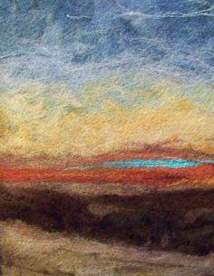 Sunset One  Needlefelt Art by Deebs