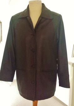 Lakeland Leather Jacket Coat Size 12 Brown Womens Ladies Soft Quality EX Cond.