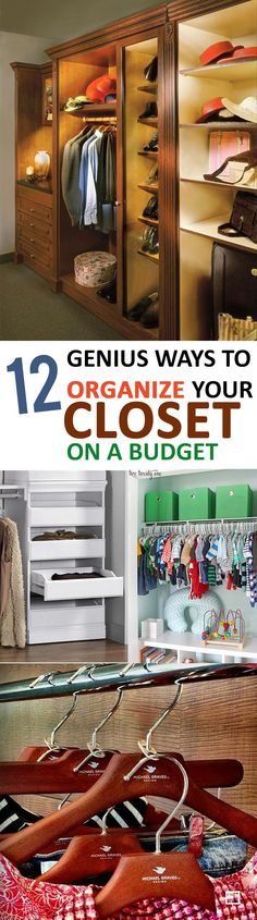12 Genius Ways to Organize Your Closet on a Budget