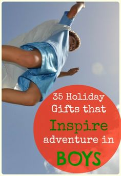 Tired of your kids sitting in front of an electronic device? Here are 35 gift ideas that inspire ADVENTURE in our boys AND girls