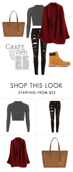 """""""Fashionista"""" by phoebejay-123 ❤ liked on Polyvore featuring Topshop, River Island, Michael Kors, Timberland and vintage"""