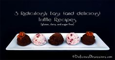 Easy Chocolate Truffles - Dairy and Sugar Free Chocolates you can Easily Make at Home!