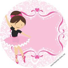 Sweet Ballerina free printable toppers or candy bar label.