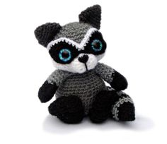 Raccoon Amigurumi Crochet Pattern PDF Instant by PatchworkMoose, £3.00