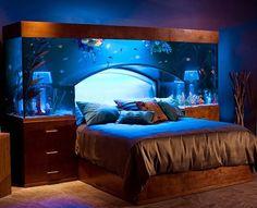 33 Idee pazzesche per rendere unica e spettacolare la vostra casa! - Epì Paidèia  Il letto acquario!!!
