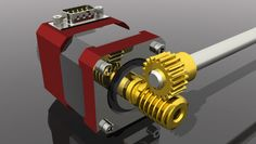 Worm Gear Coupling 20:1 - STEP / IGES - 3D CAD model - GrabCAD