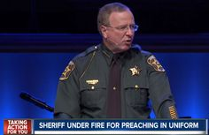 LAKELAND, Fla. -- A sheriff in Florida is under fire from a prominent atheist activist organization for speaking at a local church in his official uniform. Sheriff Grady Judd oftenspeaks at churches throughout Polk County---sometimes up to 20 appearances a year---in his uniform. This past April, he spoke to over 2,500 people at the First…