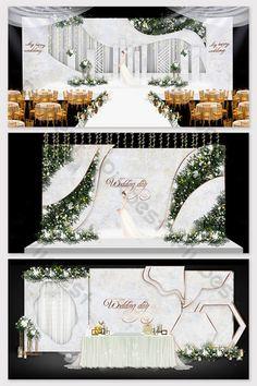 Best 12 Pink modern romantic wedding effect picture – SkillOfKing. Wedding Backdrop Design, Wedding Stage Design, Wedding Ceremony Backdrop, Wedding Aisles, Wedding Backdrops, Wedding Ceremonies, Unique Wedding Centerpieces, Wedding Hall Decorations, Backdrop Decorations