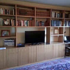 CASA TERESA Y MANUEL Librero sala de estar