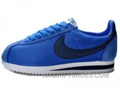 new products 82e30 34f3a Nike Classic Cortez Nylon Game Royal Navy White New Style ABME3