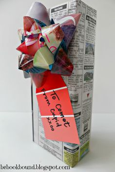 Wrapping presents with newspaper. We always wrapped my dad's gifts in newspaper. He felt regular wrapping paper was a big waste of money.