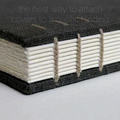 the best way to attach covers to a coptic binding - by Kaija Rantakari (a.k.a. paperiaarre)