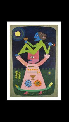 Victor Brauner - La marche nuptiale du sort scié, 1947 - Huile sur toile - 194,9 x 130,2 cm