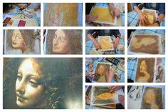 études de grandes œuvres artistiques... mise en pratique