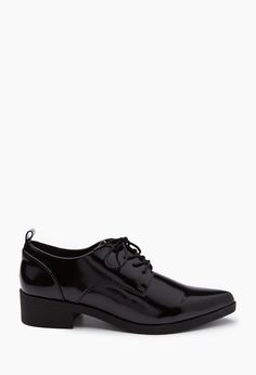 Faux Patent Leather Oxfords - Womens shoes and boots | shop online | Forever 21 - 2000167242 - Forever 21 EU