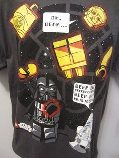 Lego Star Wars Lucasfilm Mad Engine T Shirt Youth XL Charcoal C3PIO R2D2 Darth V #MadEngine #Everyday