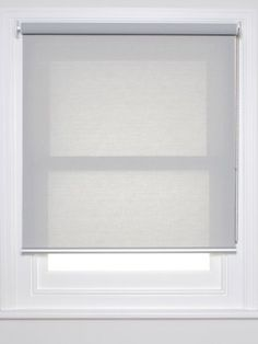 Sunscreen roller blind; steel colour; perfect for living room to provide shade but still let you see out