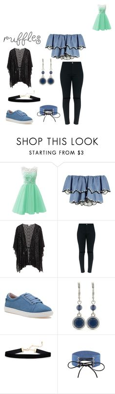 """Ruffles"" by cassidynoelle123 ❤ liked on Polyvore featuring HUISHAN ZHANG, J/Slides and Nine West"