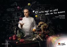 Gastronomía Ferrán Adriá - El arte aquí no está en los museos.
