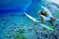 Surfer ~ if only the sharks would play elsewhere. haha