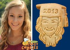 ParkersCrazyCookies.com... maybe I will have my face and a graduation cap for folks! Very unique party favor!