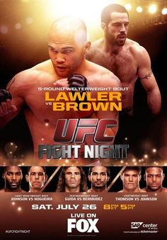 UFC on FOX 12: Lawler vs. Brown Results - Ergebnisse