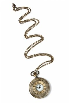 From Paris with Love! - Antique Roman Capital pocket watch necklace gold