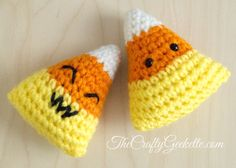 This is an easy-to-follow, beginner's amigurumi and garland pattern. The entire pattern is written in single crochet. It includes written instructions for this petite and adorable candy corn that c...