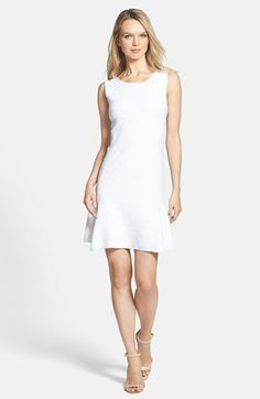 theory white jacquard fit and flare dress {40% now during Nordstrom's Half Yearly Sale!!}
