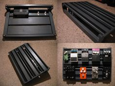 "DIY pedal board using ""gorm"" shelf Ikea. Reinforced, add legs, non-slip feet and velcro."