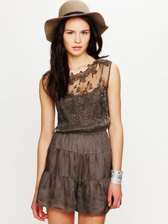 Free People • Embroidered Shortie Jumpsuit, XS $148.00