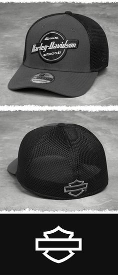 Includes a mesh back that adds style points as well as venting power.   Harley-Davidson Men's Circle Graphic 39THIRTY® Cap