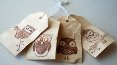 What a Hoot! DIY Owl Gift Tags Writing Portfolio, Present Wrapping, Gift Tags, Create Your Own, Owl, Wraps, Ribbon, Presents, Creative