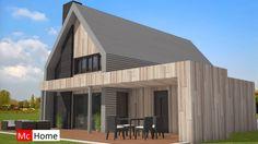 Mc-Home K67 schuurwoning met hellend dak energieneutraal en stalen gevelbekleding staalframebouw