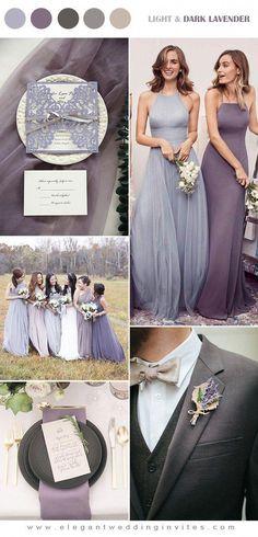 romantic light and dark lavender ppurple fall wedding colors #weddings101