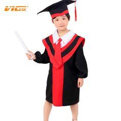 C$ 18.28 Pas cher VICVIK brand Children Performance Clothing Academic Dress for Girls Boys Dr. Cloth Graduated Bachelor Suit Dr. Cap Free Shipping, Acheter  Vêtements Ensembles de qualité directement des fournisseurs de Chine: