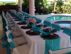 Conch House, Tropical Weddings, Wedding Decorations, Table Decorations, Wedding 2015, Florida Keys, Turquoise, Beautiful, Home Decor