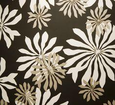 Fleur Black Wallpaper by MissPrint