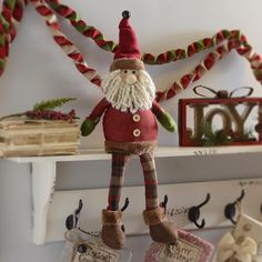 Our Rustic Santa Shelf Sitter is here to keep a watchful eye for any peaking eyes come Christmas Eve. With plaid and jingle bell accents, this adorable Santa is perfect for any shelf or tabletop display. Rustic Christmas, Winter Christmas, Christmas Ornaments, Christmas Trees, Holiday Crafts, Holiday Fun, Holiday Decor, Table Top Display, Jingle Bells