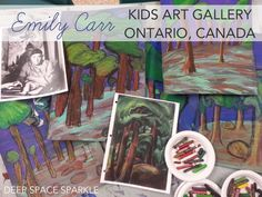 Third and fourth grade students from Ontario, Canada create amazing Emily Carr-Inspired trees and forests. Art Lesson from Deep Space Sparkle Art Videos For Kids, Art For Kids, 3rd Grade Art, Fourth Grade, Grade 2, Group Of Seven Art, Famous Artists For Kids, Kids Art Galleries, History Of Modern Art