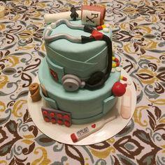 Nurse Graduation Cake Nursing Graduation, Graduation Cake, Fondant Cakes, Desserts, Food, Degree In Nursing, Tailgate Desserts, Deserts, Essen
