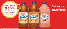 Snapple Peach, Diet Peach, and Kiwi Strawberry bottles are on rollback at Walmart. Check out the details for this offer! Only At Walmart, Walmart Stock, Walmart Deals, Walmart Walmart, Shopping Hacks, Kiwi, Easy Dinner Recipes, Frugal, Saving Money