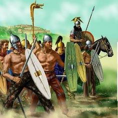 Celtic Fierce Sword warriors. These warriors often could afford a good sword and a helmet but chose to fight shirtless to demonstrate their bravery and ferocity.