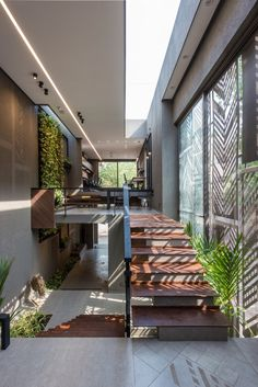 ideas for apartment building concept spaces Dream Home Design, Modern House Design, Home Interior Design, Exterior Design, Loft Design, Tropical House Design, Interior Garden, Interior Plants, Facade Design