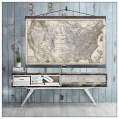 """USA Map Pull Down Map. Hanging or Pull Down Map. 60""""h x 44""""w,  Vintage 1873…"""